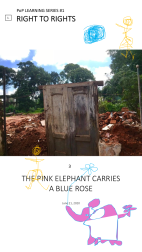 3. The Pink Elephant Carries A Blue Rose