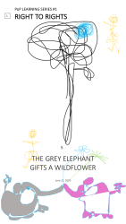 5. The Grey Elephant Gifts a Wildflower