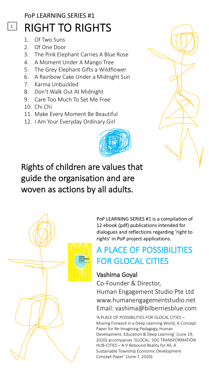 PoP LEARNING SERIES #1 - Right to Rights - 12 Titles - ebook (pdf) publications by Human Engagement Studio - June 29, 2020